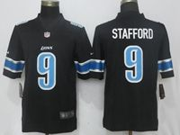 Mens Nfl Detroit Lions #9 Matthew Stafford Black Nike Vapor Untouchable Limited Player Jersey