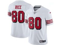 Mens Nfl San Francisco 49ers #80 Jerry Rice White Color Rush Vapor Untouchable Limited Jersey