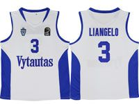 Nba Lithuania Vytautas #3 Liangelo Movie Basketball White Jersey