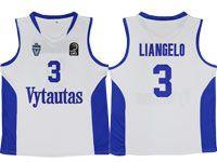 Nba Lithuania Vytautas #3 Liangelo Movie Basketball White Jersey