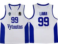 Nba Lithuania Vytautas #99 Lavar Movie Basketball White Jersey