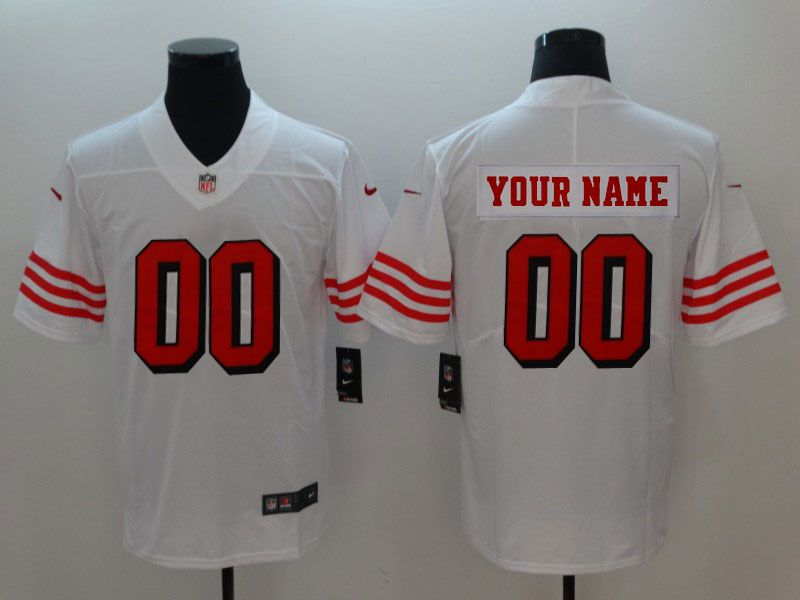 Mens Women Youth Nfl San Francisco 49ers (custom Made) White Color Rush Vapor Untouchable Limited Jersey