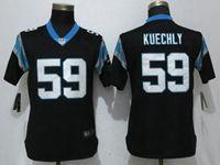 Women Nfl Carolina Panthers #59 Luke Kuechly Black Vapor Untouchable Limited Player Jersey