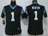Women Nfl Carolina Panthers #1 Cam Newton Black Vapor Untouchable Limited Player Jersey
