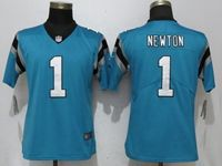 Women Nfl Carolina Panthers #1 Cam Newton Blue Vapor Untouchable Limited Player Jersey