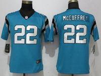 Women Nfl Carolina Panthers #22 Christian Mccaffrey Blue Vapor Untouchable Limited Player Jersey