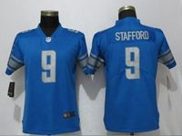 Women Nfl Detroit Lions #9 Matthew Stafford Blue 2017 Vapor Untouchable Limited Player Jersey