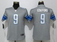 Women Nfl Detroit Lions #9 Matthew Stafford Grey 2017 Vapor Untouchable Limited Player Jersey