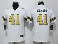 Women Nfl New Orleans Saints #41 Alvin Kamara White Color Rush Elite Player Jersey