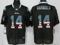 Mens Nfl New York Jets #14 Sam Darnold Black Usa Flag Fashion Elite Nike Jerseys