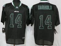 Mens Nfl New York Jets #14 Sam Darnold Black Lights Out Elite Nike Jersey