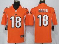 Mens Nfl Cincinnati Bengals #18 Aj Green Orange Vapor Untouchable Limited Player Jersey