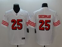 Women Youth Nfl San Francisco 49ers #25 Richard Sherman White Color Rush Vapor Untouchable Limited Jersey