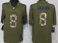 Mens Nfl Baltimore Ravens #8 Lamar Jackson Green Salute To Service Limited Nike Jersey