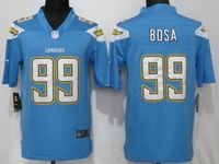 Mens Los Angeles Chargers #99 Joey Bosa Light Blue 2017 Vapor Untouchable Limited Jersey