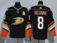 Mens Nhl Anaheim Mighty Ducks #8 Teemu Selanne Black Adidas Home Jersey