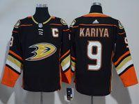 Mens Nhl Anaheim Mighty Ducks #9 Paul Kariya Black Adidas Home Jersey