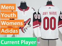 Mens Women Youth Adidas Arizona Coyotes White Away Current Player Jersey