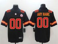 Mens Women Youth Nfl Kansas City Chiefs Custom Made Black Vapor Untouchable Limited Jersey