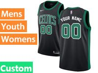 Mens Women Youth Nba Boston Celtics Boston Custom Made Black Statement Edition Nike Jersey