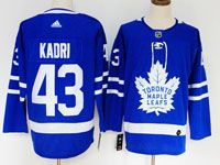 Mens Nhl Toronto Maple Leafs #43 Nazem Kadri Royal Blue Home Adidas Jersey