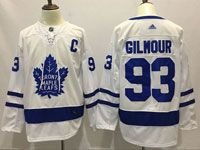 Mens Nhl Toronto Maple Leafs #93 Doug Gilmour White Away Adidas Jersey