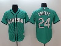 Mens Mlb Seattle Mariners #24 Ken Griffey Jr Green Cool Base Jersey