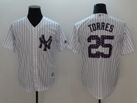 Mens Mlb New York Yankees #25 Gleyber Torres White 2018 Stars & Stripes Cool Base Player Jersey