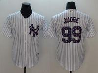Mens Mlb New York Yankees #99 Aaron Judge White 2018 Stars & Stripes Cool Base Player Jersey