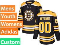 Mens Nhl Boston Bruins Custom Made Black Home Adidas Jersey