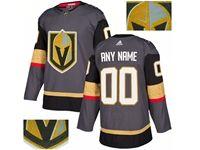 Mens Adidas Vegas Golden Knights Gray Rhinestones Home Current Player Jersey