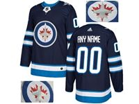 Mens Adidas Winnipeg Jets Blue Rhinestones Home Current Player Jersey