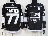 Mens Nhl Los Angeles Kings #77 Jeff Carter Black Adidas Home Premier Jersey