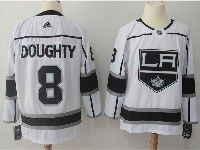 Mens Adidas Los Angeles Kings  #8 Drew Doughty White Jersey