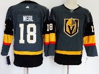 Mens Nhl Vegas Golden Knights #18 James Neal Fleury Gray Authentic Player Adidas Jersey