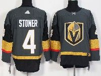 Mens Women Youth Nhl Vegas Golden Knights #4 Clayton Stoner Gray Authentic Player Adidas Jersey