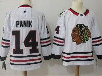 Mens Nhl Chicago Blackhawks #14 Chris Kunitz White Adidas Jersey