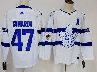 Mens Nhl Toronto Maple Leafs #47 Leo Komarov White Away 2018 Stadium Series Jersey