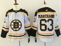 Mens Nhl Boston Bruins #63 Brad Marchand White Away Adidas Jersey