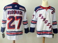 Mens Nhl New York Rangers #27 Ryan Mcdonagh White Adidas Jersey