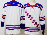 Mens Nhl New York Rangers Blank White Adidas Jersey