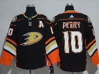 Mens Nhl Anaheim Mighty Ducks #10 Corey Perry (a) Black Adidas Home Jersey