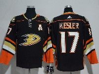 Mens Nhl Anaheim Mighty Ducks #17 Ryan Kesler (a)  Black Adidas Home Jersey