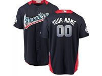 Mens Custom Made 2018 Mlb All Star Game American League Navy Cool Base Jersey