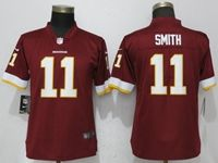 Women Washington Redskins #11 Alex Smith Red Vapor Untouchable Limited Player Jersey