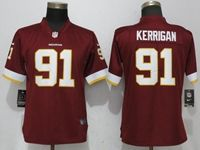 Women Washington Redskins #91 Ryan Kerrigan Red Vapor Untouchable Limited Player Jersey