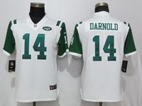 Women Youth New York Jets #14 Sam Darnold White Vapor Untouchable Limited Player Jersey