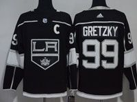 Mens Nhl Los Angeles Kings #99 Wayne Gretzky Black Adidas Jersey