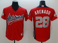 Mens Colorado Rockies #28 Nolan Arenado 2018 Mlb All Star Game National League Red Cool Base Jersey