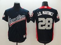 Mens Boston Red Sox #28 J.d. Martinez 2018 Mlb All Star Game American League Navy Cool Base Jersey